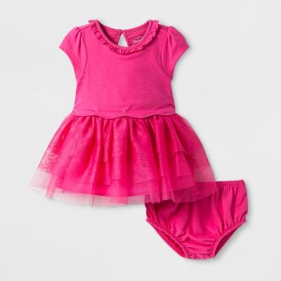 Baby Girls' Tutu Dress - Cat & Jack™ Magenta Pink 6-9M