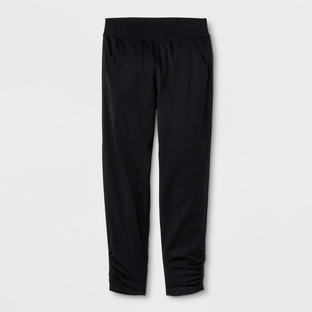 Girls' Ruched Active Pants - C9 Champion Black L, Black Heather