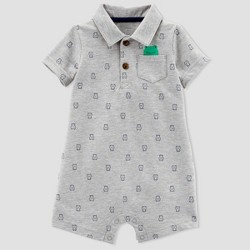 Baby Boys' 1pc Frog Polo Romper - Just One You™ Made by Carter's® Gray