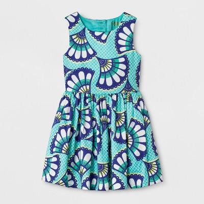 Genuine Kids® from OshKosh Toddler Girls' Dress - Fan Print 12M