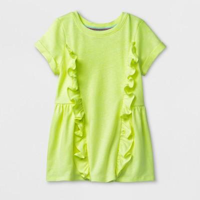 Toddler Girls' Short Sleeve T-Shirt - Cat & Jack™ Lime 12M