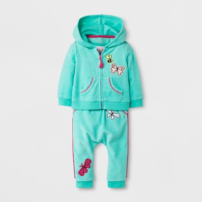 Baby Girls' 3pc Tunic and Leggings Set - Cat & Jack™ Green 0-3M