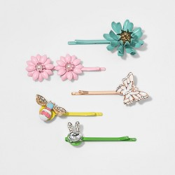 Girls' 5pk Spring Bobby Pins - Cat & Jack™