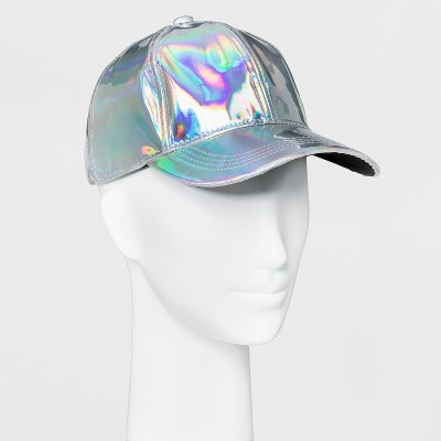Women's Iridescent Baseball Hat - Mossimo Supply Co. Silver