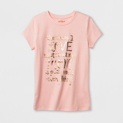 Girls' Short Sleeve What I Love About My Mom Graphic T-Shirt - Cat & Jack™ Light Pink