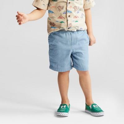 Toddler Boys' Pull-On Shorts - Cat & Jack™ Indigo - 12 Months