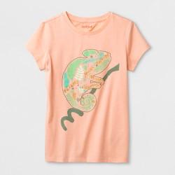 Girls' Short Sleeve Chameleon Graphic T-Shirt - Cat & Jack™ Peach