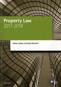 Property Law 2017-2018 -  by Robert Abbey & Mark Richards (Paperback)