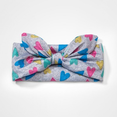 Girls' Knot Bow Headband - Cat & Jack™ Gray