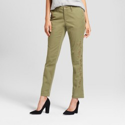 Women's Slim Chino Pants - A New Day™ Coral