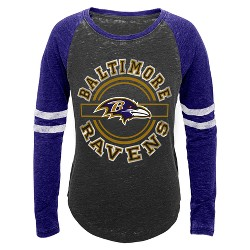Baltimore Ravens Girls' Crew Neck T-Shirt