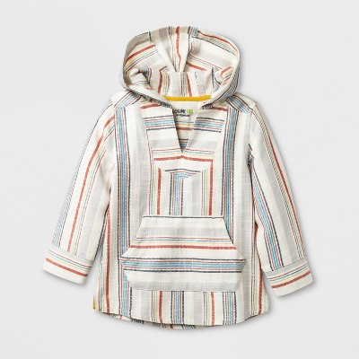 Toddler Boys' Genuine Kids™ from OshKosh® Baja Hoodie - Cream Stripe 18 M