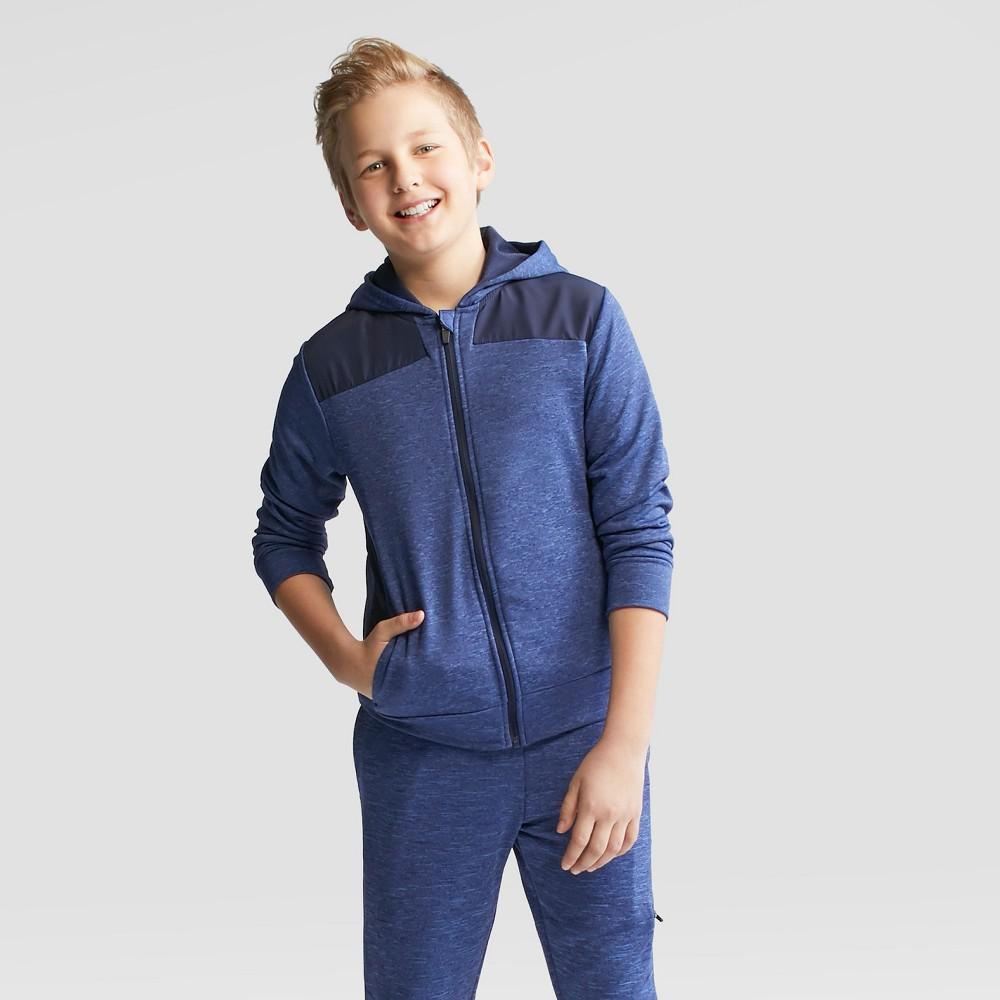 Boys' Spring Fleece Full Zip Hoodie - C9 Champion Xavier Navy L