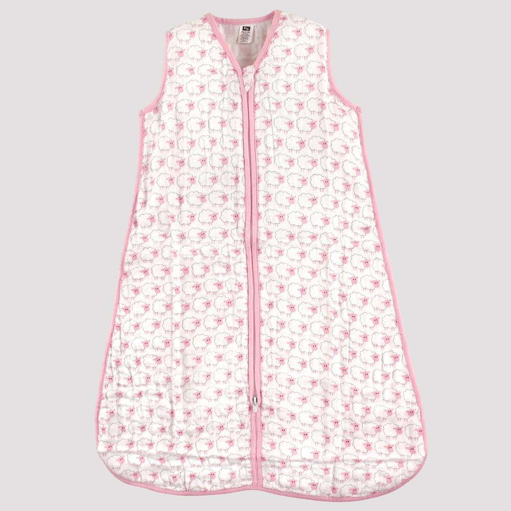 Hudson Baby Safe Sleep Wearable Muslin Sleeping Bag - Pink Sheep - 12-18M, Infant Girl's