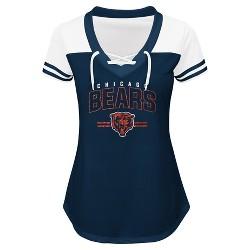 Chicago Bears Women's Lace Up Fashion Top T-Shirt