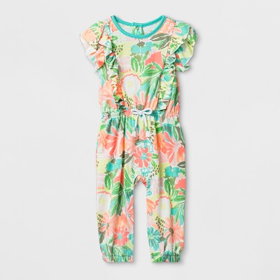 Baby Girls' Ruffle Romper - Cat & Jack™ Multi Colored NB