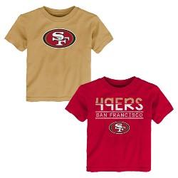 San Francisco 49ers Toddler Boys' 2pk T-Shirt Set