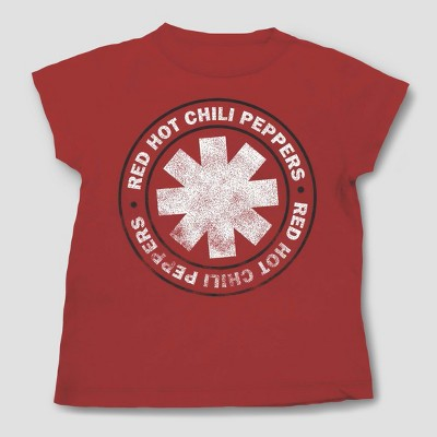 Toddler Boys' Red Hot Chili Peppers Short Sleeve T-Shirt - Red - 12 Months