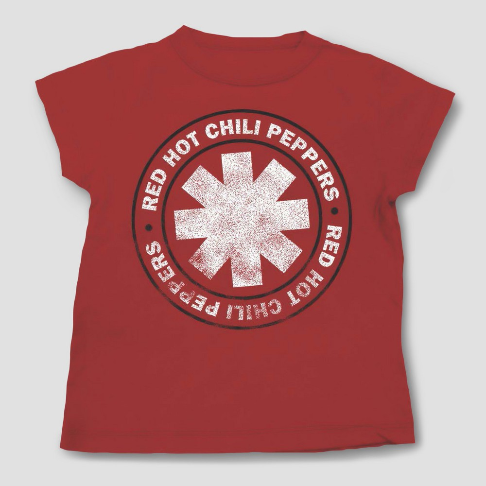 Toddler Boys Red Hot Chili Peppers Short Sleeve T-Shirt - Red - 12 Months, Size: 12 M