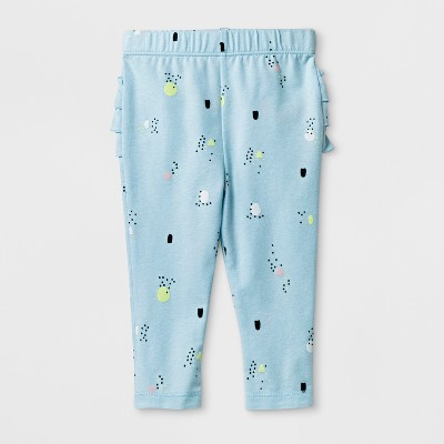 Baby Girls' Ruffle Leggings - Cat & Jack™ Blue 6-9M