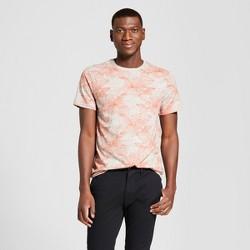 Men's Floral Print Standard Fit Short Sleeve Crew Neck T-Shirt - Goodfellow & Co™ Sunbeam Pink L