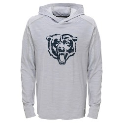 Chicago Bears Boys' Lightweight Gray Pullover Hoodie