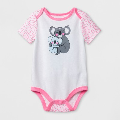 Baby Girls' Koala Bodysuit - Cat & Jack™ White 12M