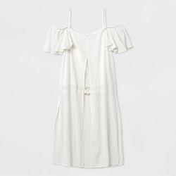 Girls' Cold Shoulder Short Sleeve Blouse - art class™ White