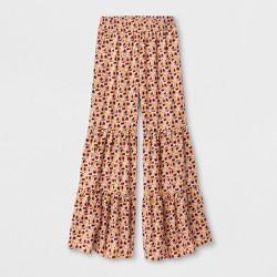 Girls' Tiered Pants - art class™ Golden Burgundy Floral