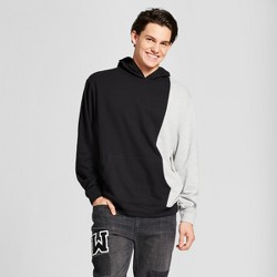Men's Long Sleeve Color Block Hoodie Sweatshirt - Jackson™ Black & Gray