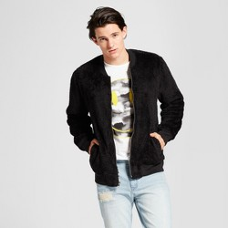 Men's Fashion Sherpa Bomber Jacket - Jackson™ Black