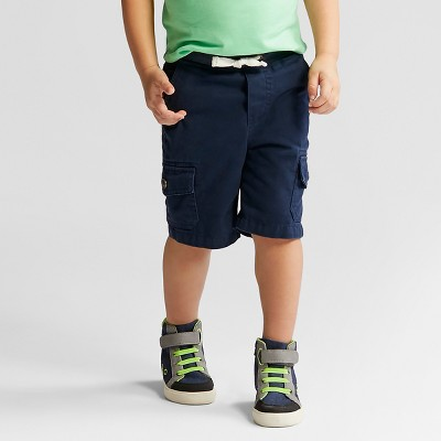 Toddler Boys' Pull-On Cargo Shorts - Cat & Jack™ Blue - 12 Months