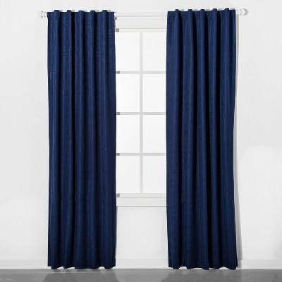 Mesh Blackout Curtain Panel Blue (42 x63 )- Pillowfort™