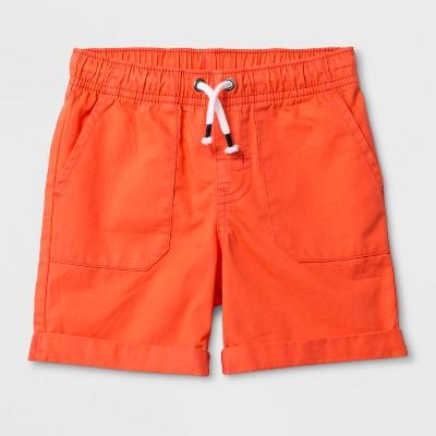Toddler Boys' Pull-On Shorts - Cat & Jack™ Tangerine 12M