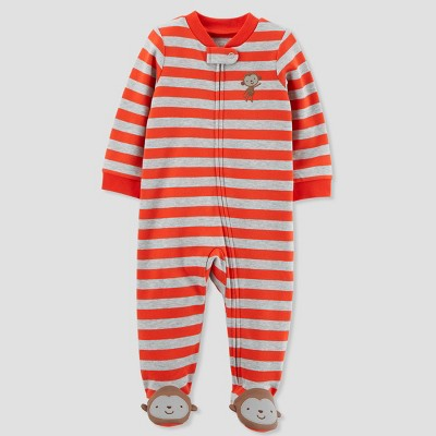 Baby Boys' Stripe Sleep N' Play - Just One You® made by carter's Gray/Red Baby