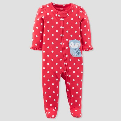 Baby Girls' Polka Dot Owl Sleep N' Play - Just One You® made by carter's Red NB