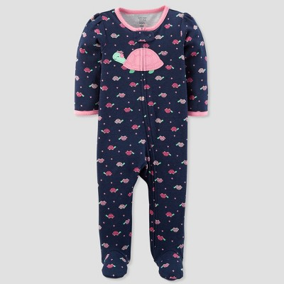 Baby Girls' Turtle Sleep N' Play - Just One You® made by carter's Navy/Pink 6M