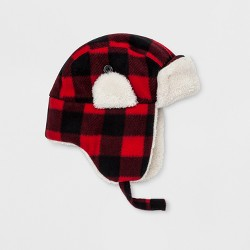 Toddler Boys' Buffalo Plaid Hat Cat & Jack™ Red