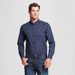 Men's Standard Fit Northrop Long Sleeve Button Down Shirt - Goodfellow & Co™ True Navy