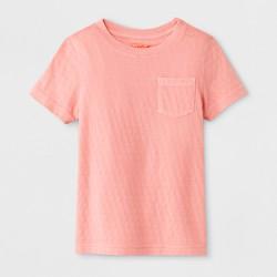 Toddler Boys' Pocket Short Sleeve T-Shirt - Cat & Jack™ Pink Jacquard