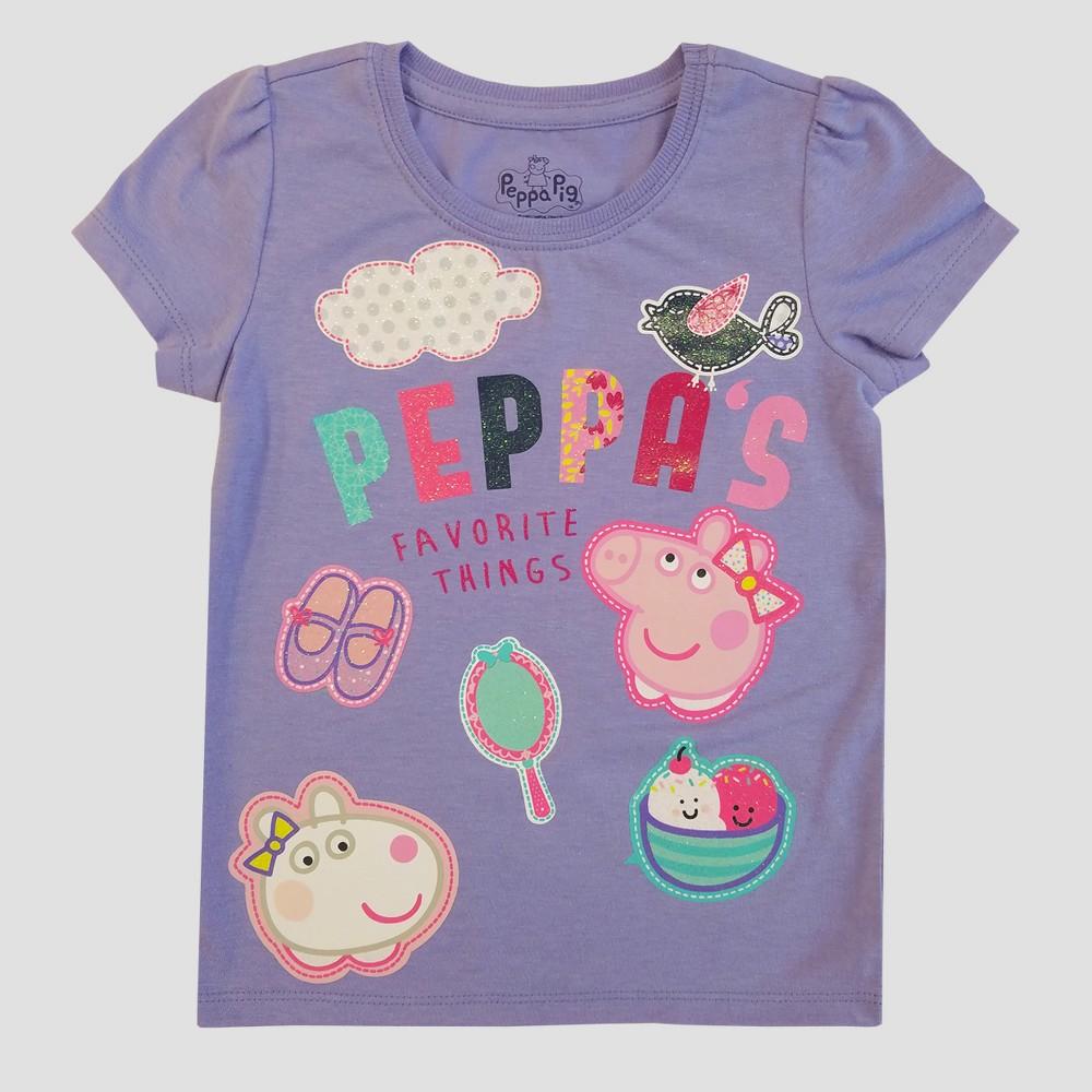 Toddler Girls Peppa Pig T-Shirt - Grey 4T, Gray