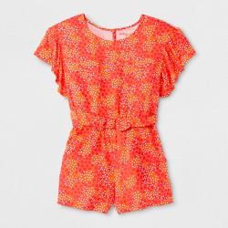 Girls' Printed Romper - Cat & Jack™ Orange