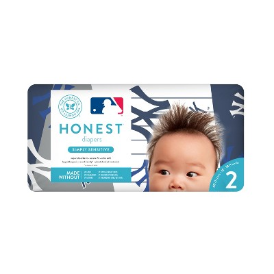 Honest Company Diapers, New York Yankees - Size 2 (40ct)