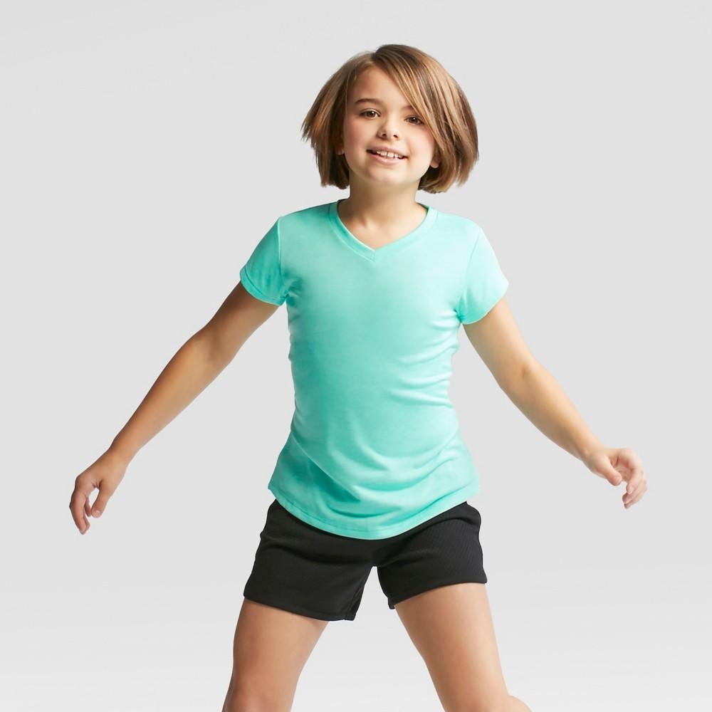 Girls' Heather Tech T-Shirt - C9 Champion Mint Green Heather S
