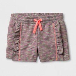 Girls' Elevated Pull on Shorts - Cat & Jack™ Rainbow
