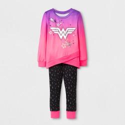 Toddler Girls' Wonder Woman 2pc Sweatshirt and Leggings Set