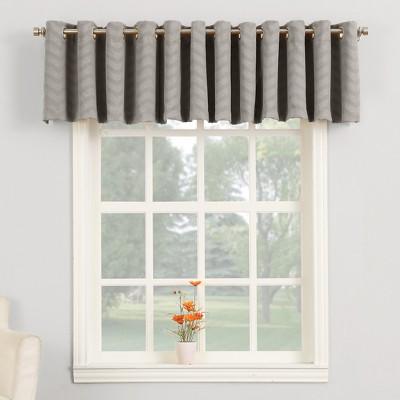 Ramsey Woven Jacquard Blackout Grommet Curtain Panel Grey 50 x95  - Sun Zero