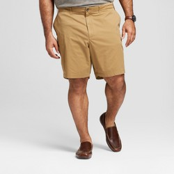 "Men's Big & Tall 9"" Linden Flat Front Shorts - Goodfellow & Co™ Khaki"
