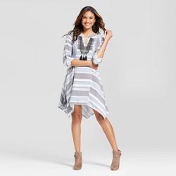 Women's Denim Strip Sharkbite Dress - Knox Rose™ Denim Blue