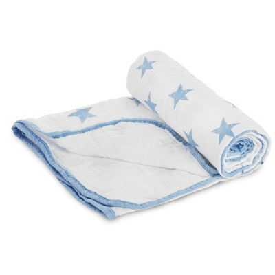 Aden® by Aden + Anais® Stroller Blanket - Dapper - Light Blue